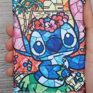 Hasil cetak custom casing karakter Lilo and Stitch COPD512