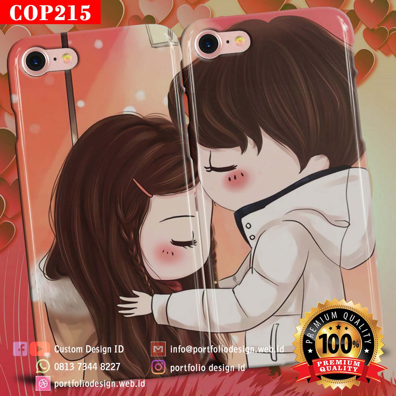 Casing Kartun Couple Muslim Romantis COP215 – Custom Desain