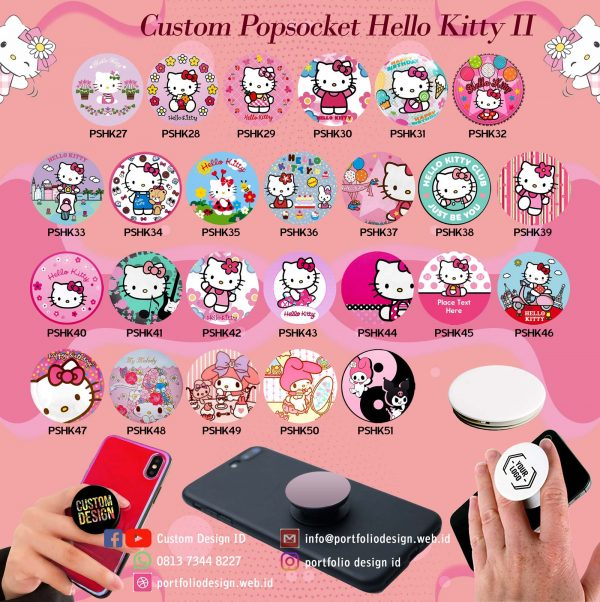 Custom desain popsocket hp karakter hello kitty part II