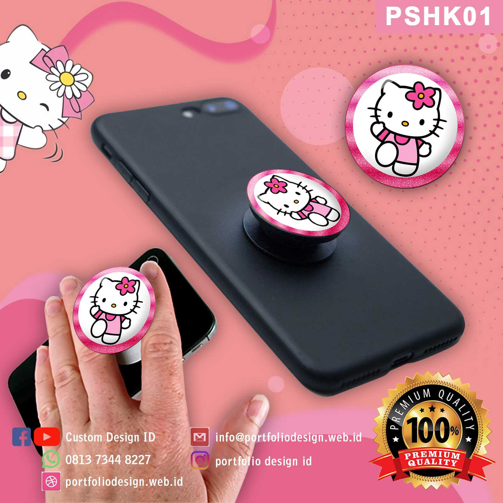 Popsocket handphone karakter Hello Kitty PSHK01