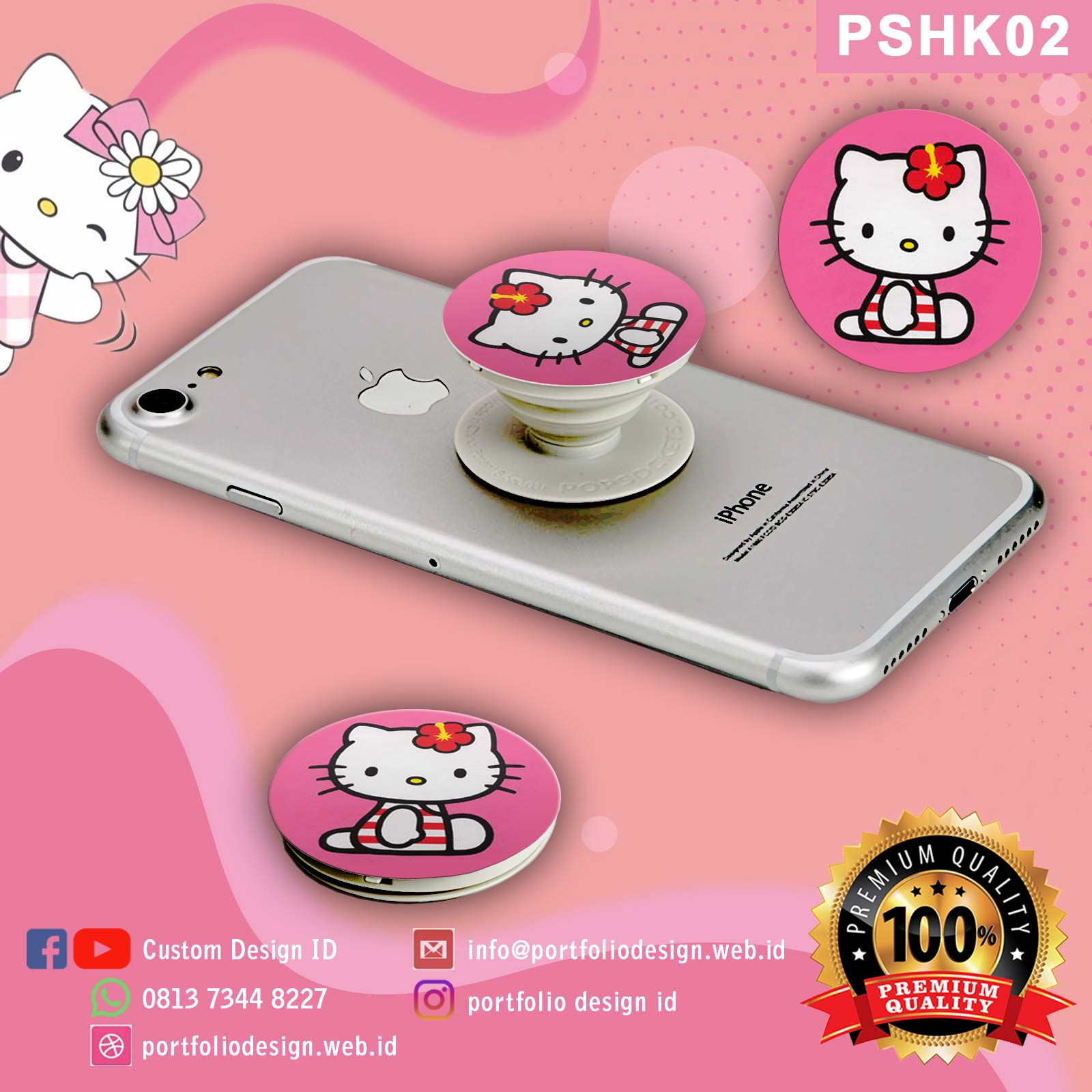 Popsocket lucu karakter Hello Kitty PSHK02