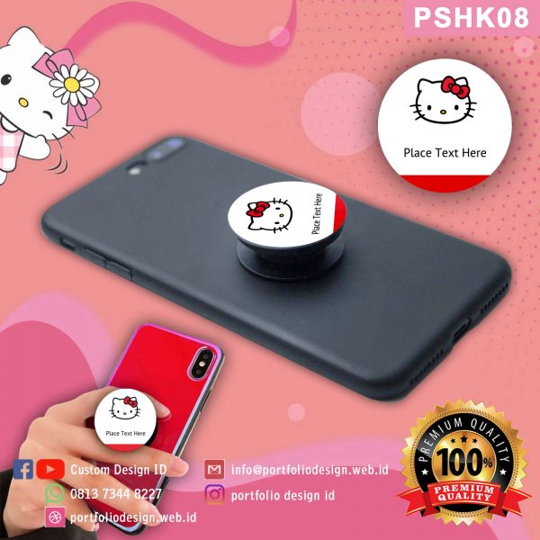 Custom desain Popsocket hp karakter Hello Kitty PSHK08