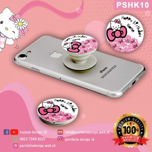 Jual pop socket hp karakter Hello Kitty PSHK10