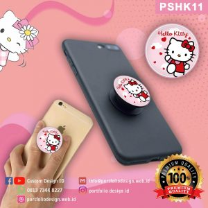 Desain Pop socket hp karakter Hello Kitty PSHK11