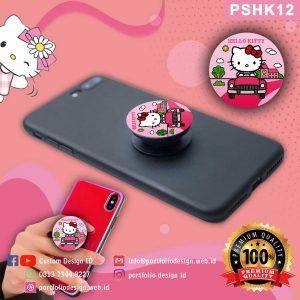 Desain Pop socket hp karakter Hello Kitty PSHK12