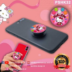 custom desain Pop socket hp karakter Hello Kitty PSHK32