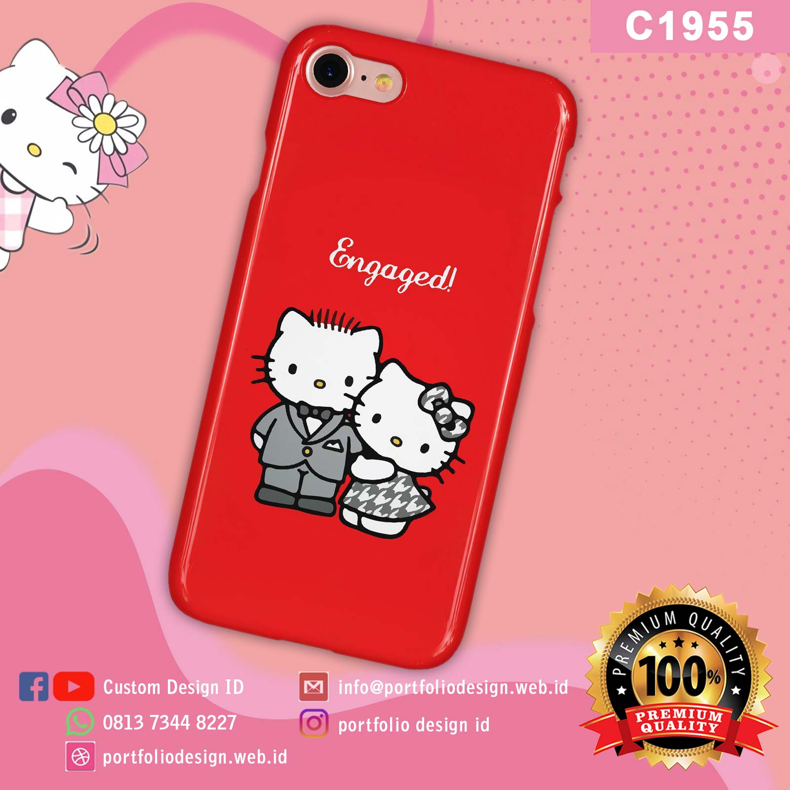 Aksesoris casing hp softcase hardcase Hello Kitty C1955