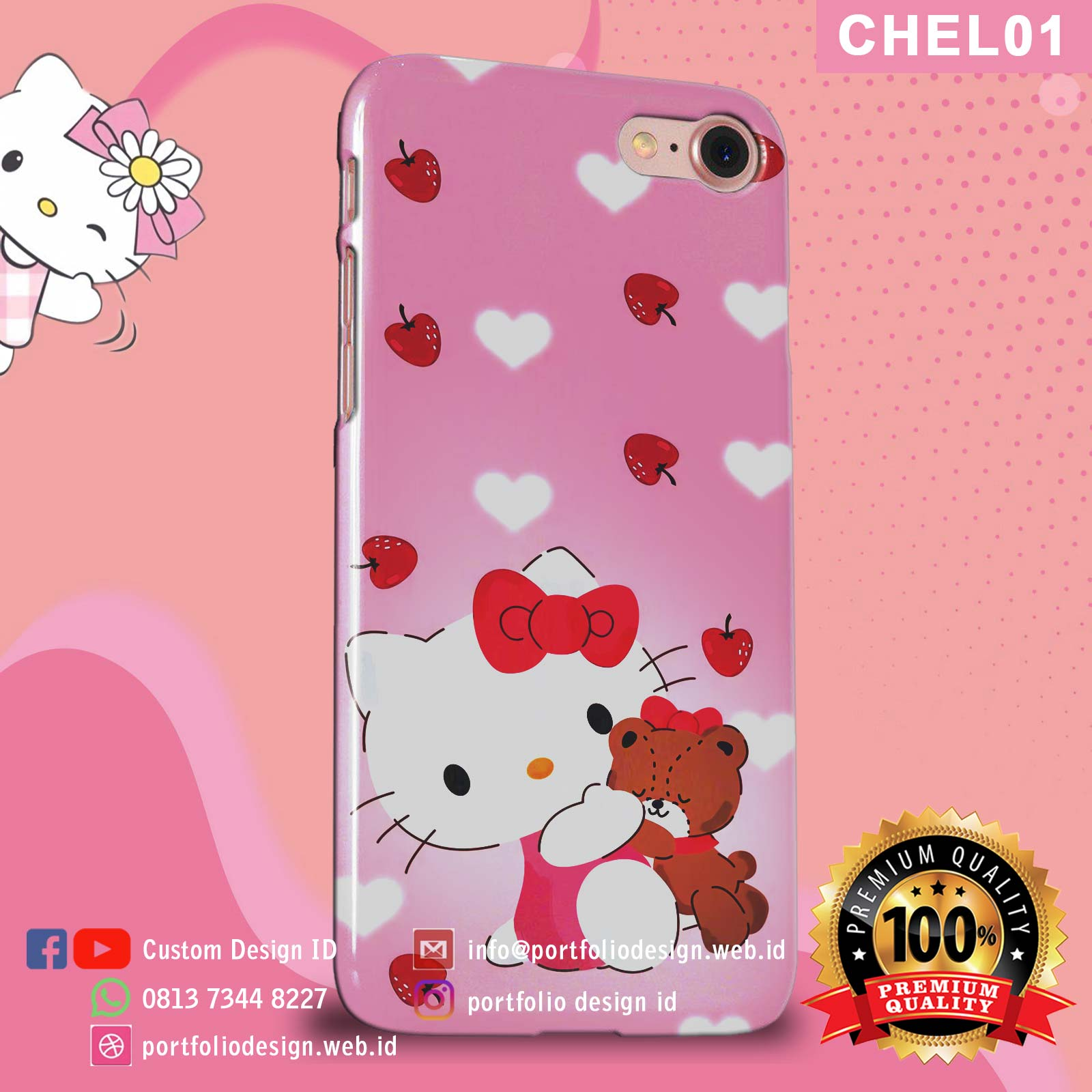 Casing hp softcase hardcase Hello Kitty CHEL01