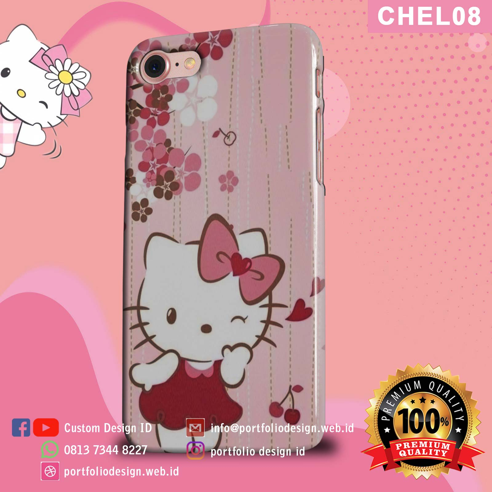 Aksesoris case hp Hello Kitty CHEL08