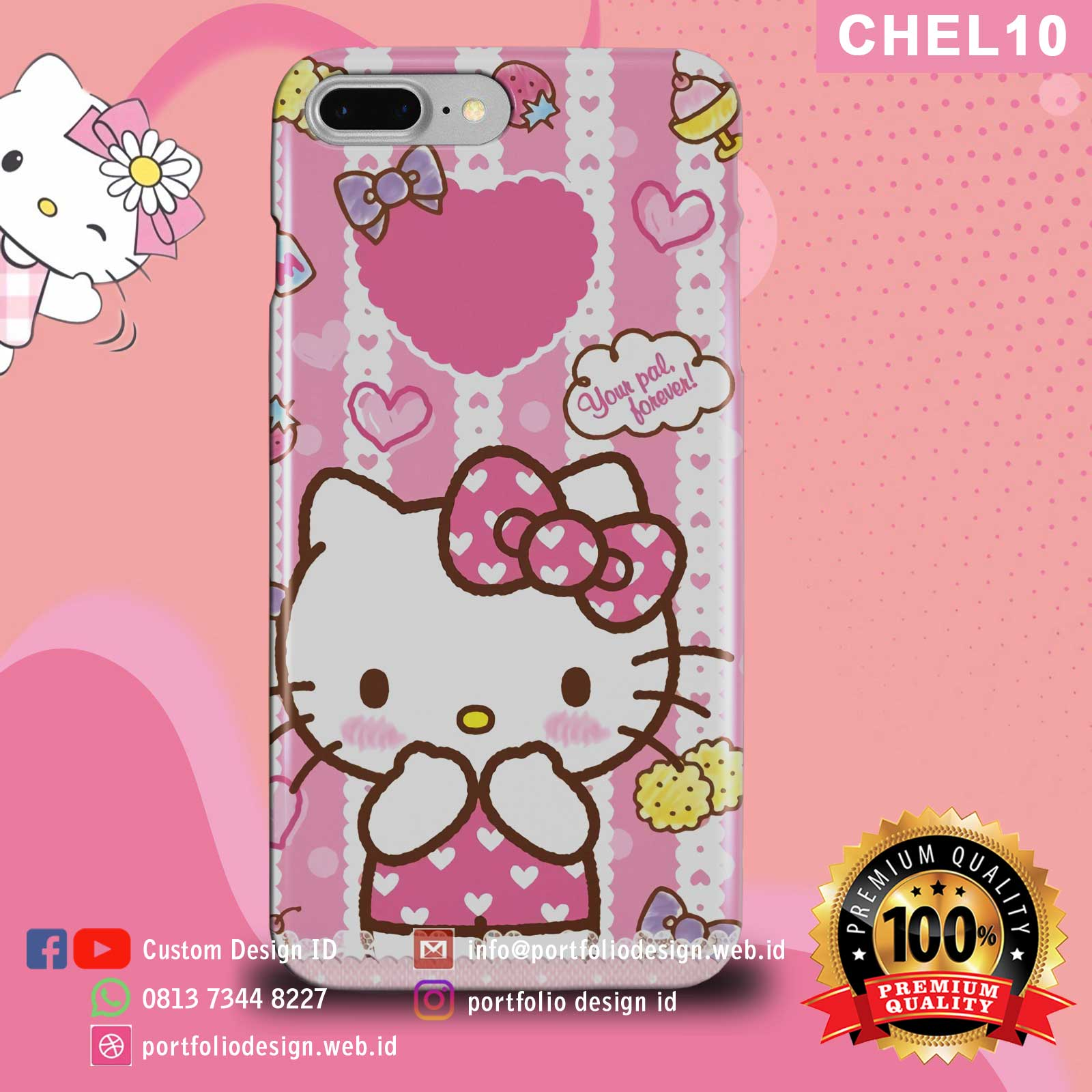 Aksesoris case hp Hello Kitty CHEL10