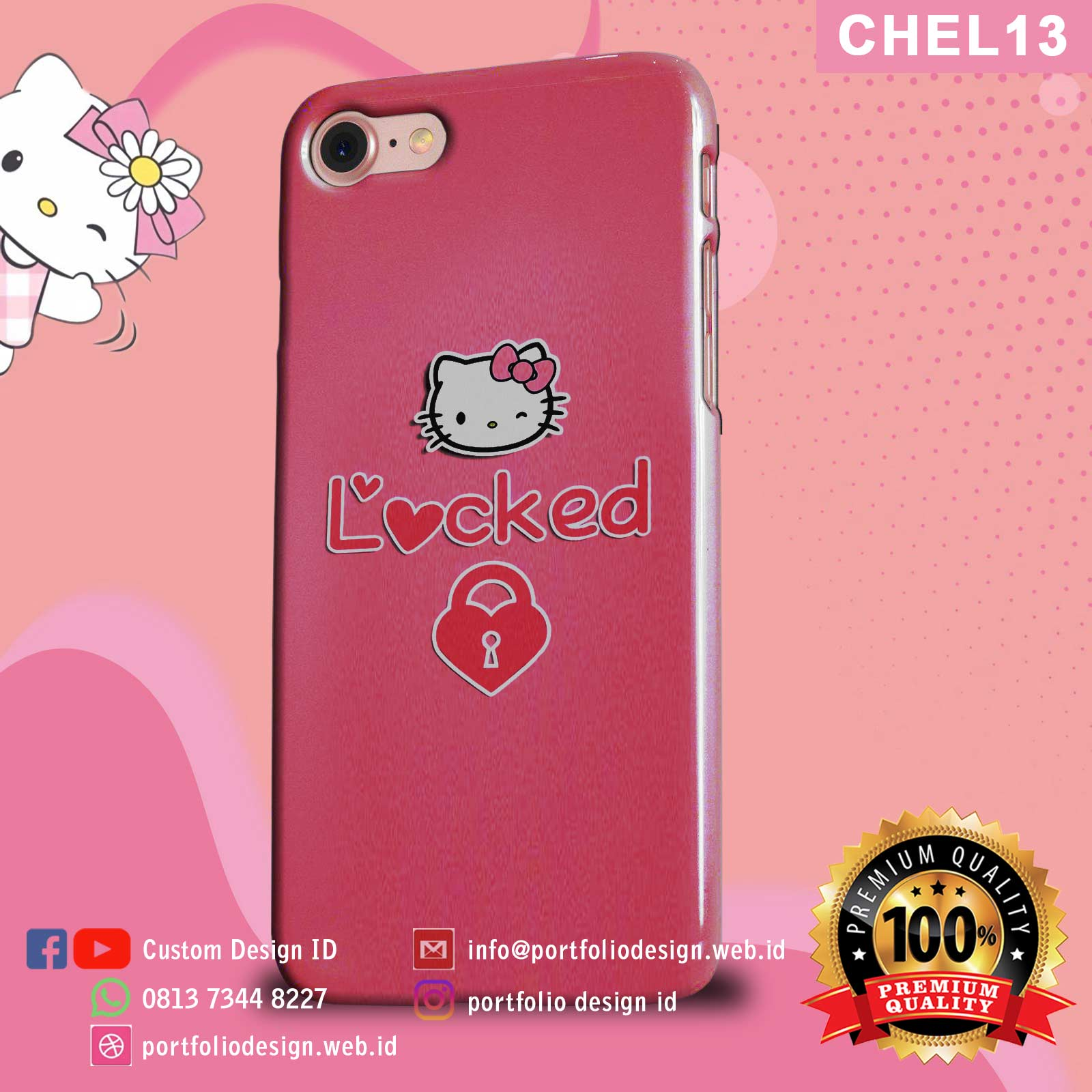 Aksesoris casing hp softcase hardcase Hello Kitty CHEL13