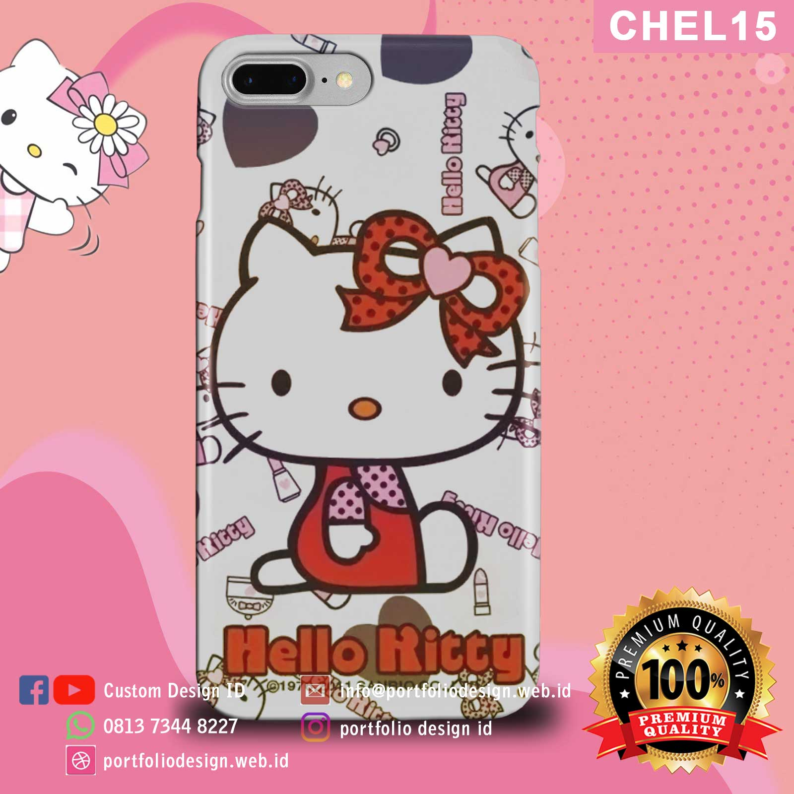 Aksesoris casing hp softcase hardcase Hello Kitty CHEL15