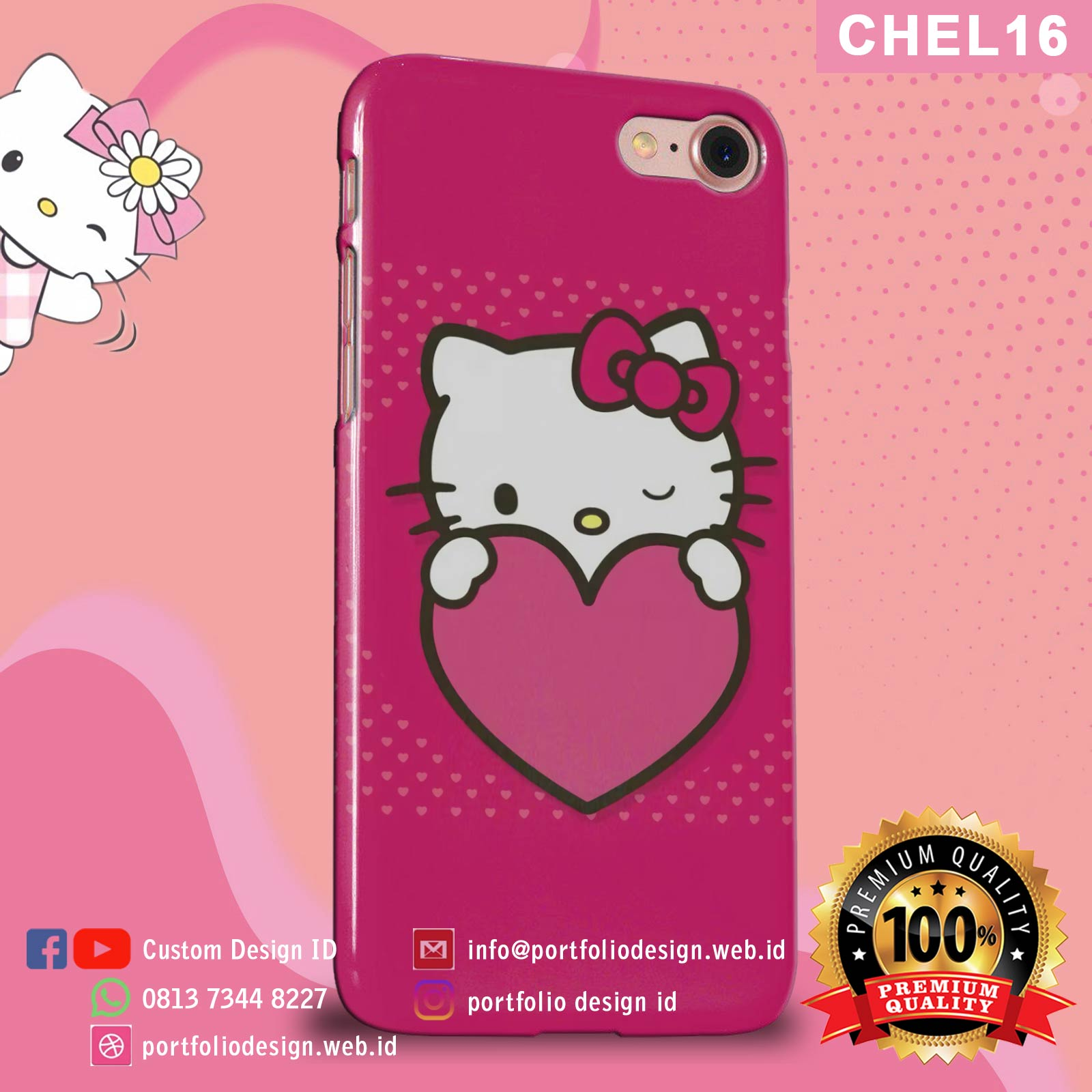Aksesoris casing hp softcase hardcase Hello Kitty CHEL16