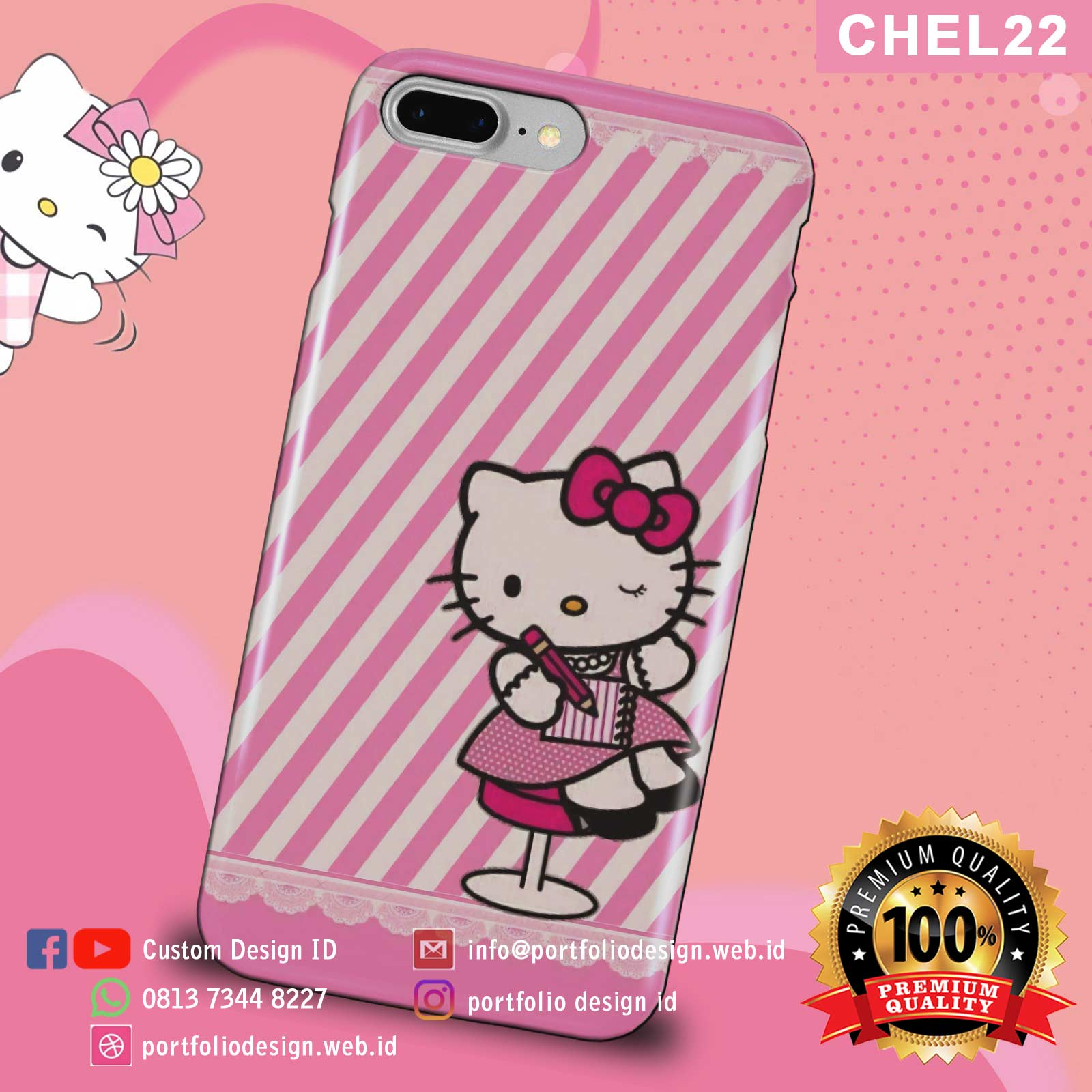 Cute case handphone hello kitty CHEL22