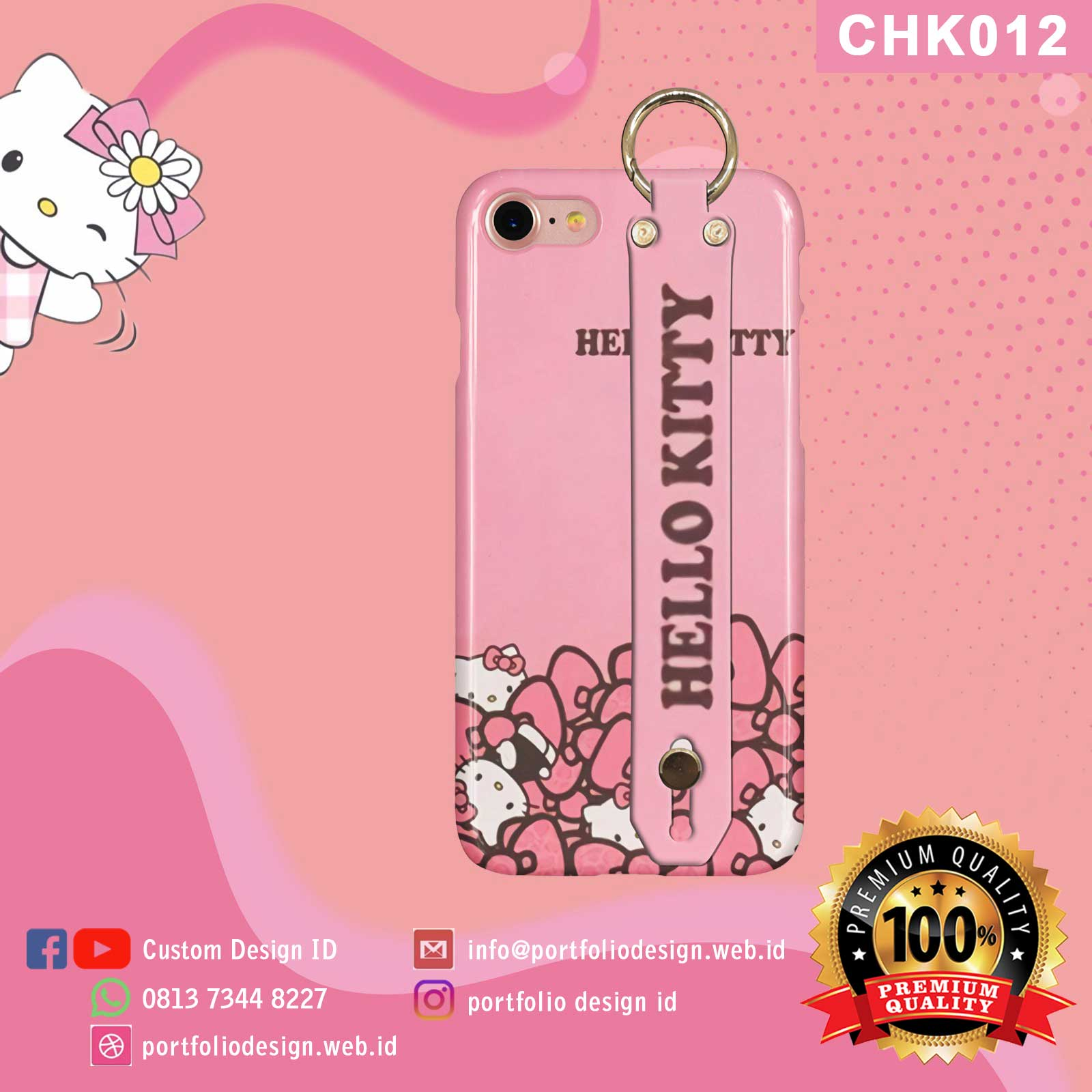 Casing handphone karakter Hello Kitty CHK012