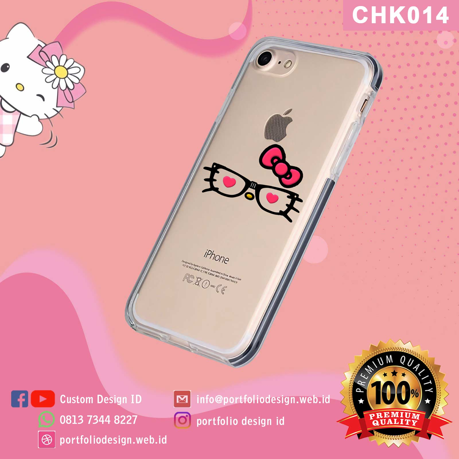 Buat custom aksesoris casing hp Hello Kitty CHK014
