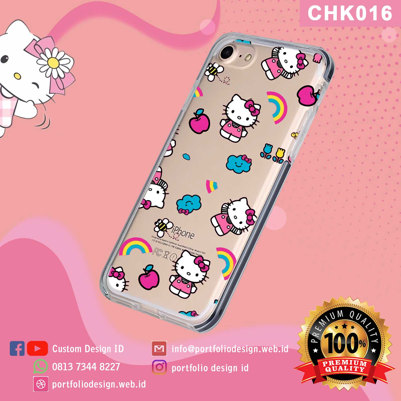 Buat custom aksesoris casing hp Hello Kitty CHK016