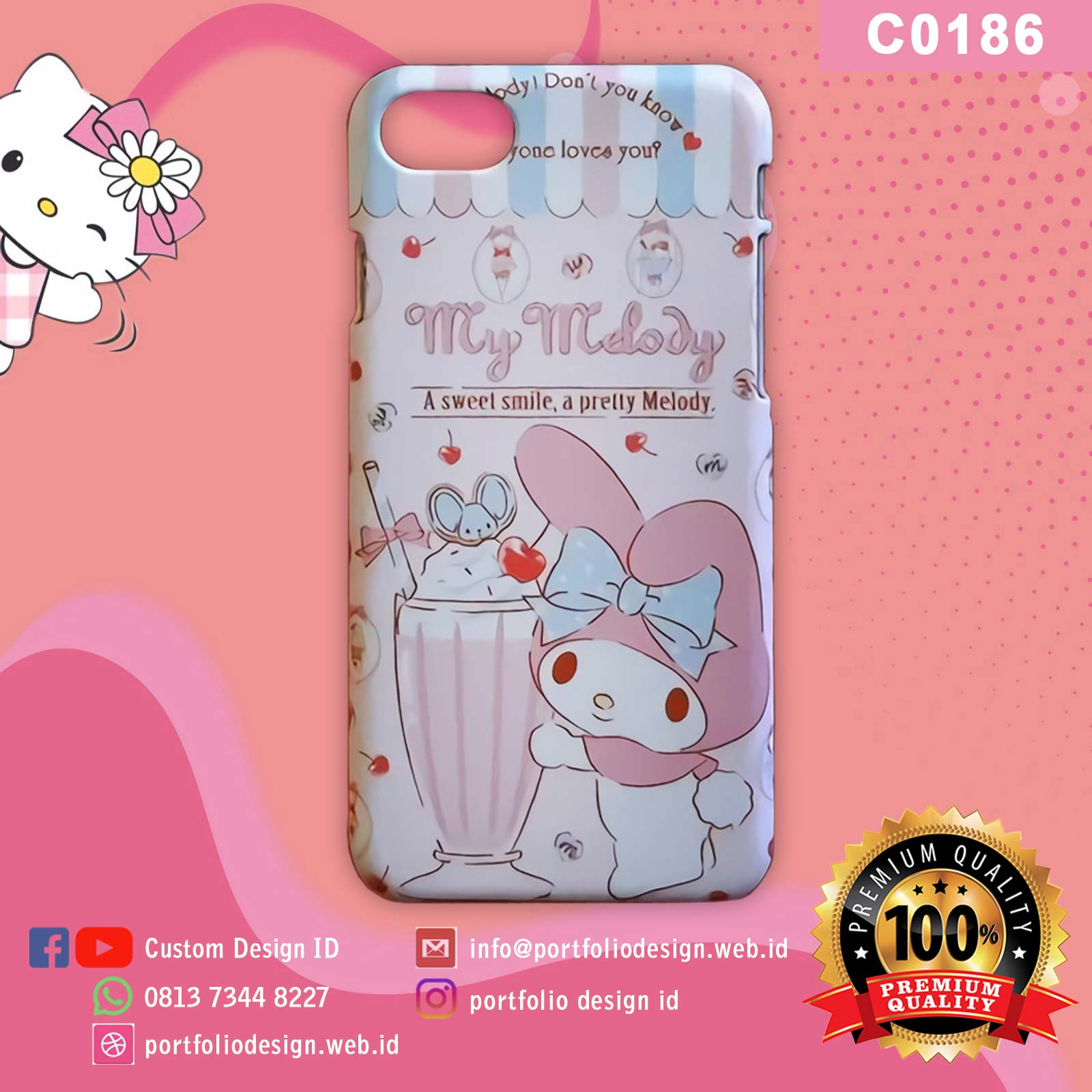 Casing hp my melody C0186